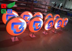 China Diameter 500mm LED Light Box Display , Outdoor Light Box With Printed Vinyl Stickers on sale