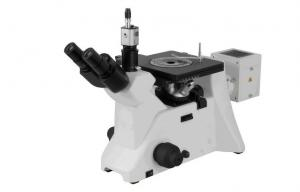 China Coaxial  Adjustable Brightness  And Plan Achormatic Inverted Metallurgical Microscope on sale