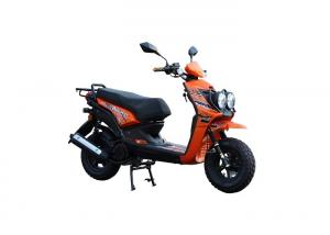 China orange color  fashion  model 4 Stroke GY6 Enginee and  80km/h Max Speed 150cc gas scooter on sale