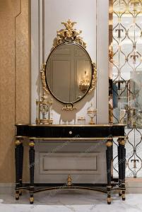 China Wholesale Palace Lobby Baroque Wall Mounted Console Table  TO-028 on sale