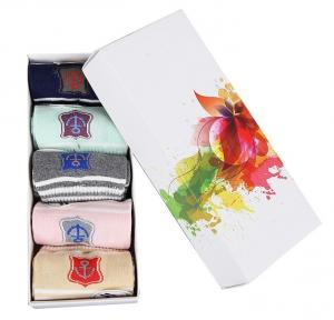 China Foldable Custom Setup Box / Socks Packaging Box 300gsm C1S Paper Material on sale