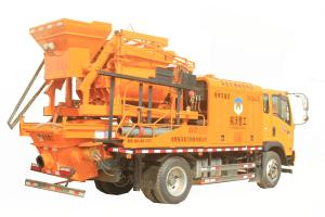 China Electrical Engine Truck Mounted Concrete Pump Concrete Mixer Pump Great Performance on sale