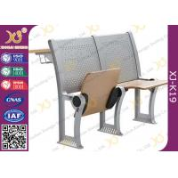 Lecture Hall Attached College Classroom Furniture MultiLayer Folding Type