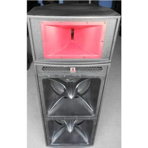 China dual 18'' horn-loaded speaker with 3'' top speaker 1.6 meter height pro audio subwoofer power audio loudspeaker system on sale