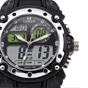 China Original EL 45mm Sport Wrist Watches Backlight With LCD Dual Core on sale