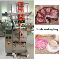 Automatic CE Certificate 3 Side Sealing Bag Milk Tea / Coffee Packing Machine