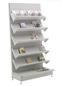 China White Metal merchandise literature Books, Papers Magazine Display Rack floor standing on sale