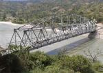 Modular Detla Structural Steel Truss Bridge Galvanized Surface 7.6m Width