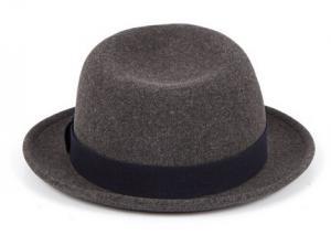 China Fashion 100% Wool Felt Mens & Women Grey Fedora Hat on sale