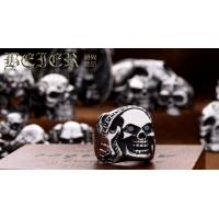 China Wholesale Fashion Jewelry stainless steel Ring for men fashion Skull Ring Classic E24 on sale