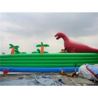 Colorful Dinosaur Theme Inflatable Water Parks For Pool And Lake