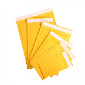 China Self Adhesive 40mm Tape 120 Micron Kraft Bubble Envelopes for protecting products on sale
