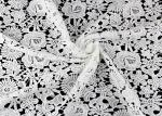 Chemical Poly Milk Water Soluble Lace Fabric For Women Garment