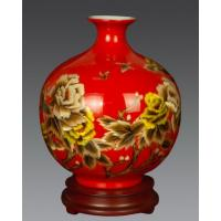 Flower vase with wheat straw painting, special vase for flowers