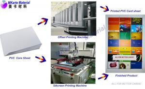 China PVC Card Material - PVC Core Sheet  For Bank , Credit Card Lamination on sale