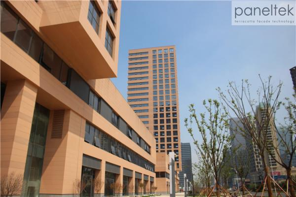 Building Exterior Wall Cladding Eco Friendly Material Terracotta