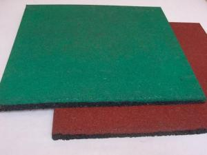 China Wood Grain Industrial Rubber Sheet Rubber Felt Floor Spill Mat , 10-50mm Thickness on sale