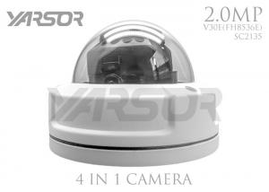 China White 1080p 4 In 1 Vandal Resistant Dome Camera 2.0MP For Supermarket / Lobby on sale