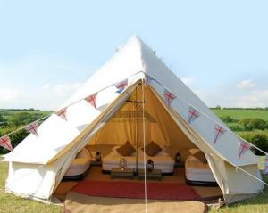 China White Outdoor Canvas Tent For For Emergency Shelter Disaster Relief & Camping on sale