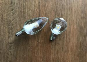 China 450lm Dimming Led Candle Lights , 4.3w 2700k Light Bulb Crystal E12 Base on sale