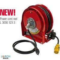 China New Product Ultra-compact Retractable Steel type 9m Premium Duty Power Cord Reels on sale
