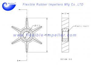 9.9 10 XR10,15 hp 47-42038-2 18-3062 Water Pump Impeller Mercury Mariner 6 8