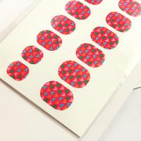 China Canada's National Flag Pattern / Paper Finger Nail Sticker Wraps For Kids on sale