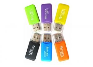 China Usb 2.0 Single Slot Portable Card Reader 4.8 X 2 X 0.6cm For PC Laptop on sale