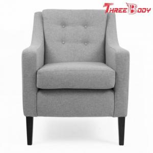 China Leisure Comfortable Living Room Chairs , Contemporary Upholstered Accent Chairs on sale