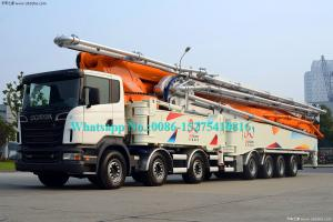 China Automatic Zoomlion Truck Mounted Concrete Pump 56m Placing Depth 63X-6RZ Model With 6 Arms on sale