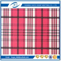 Fashion  Printed Fleece Fabric  Plaid Fleece Fabric For Blankets