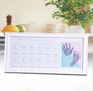 China Wholesale baby handprint footprint kit in 1st year frame on sale