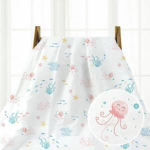 China Cotton Muslin Bamboo Swaddling Baby Blanket Zero Formaldehyde Anti Pilling on sale