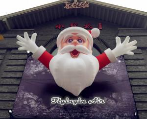 China 4m Height Christmas Inflatable Santa Claus for Outdoor Wall Decoration on sale