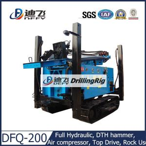 China 200m DFQ-200 DTH pneumatic used Drilling Rig on Crawler Mounted, Hard Rock Drilling Rig on sale