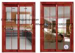 Aluminum Glass Sliding Door With 60 Series Aluminum Frame And Frosted