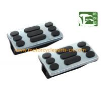 China GN125 Footrest Suzuki Motorcycle Parts / Rubber motorcycle pedal , Black on sale