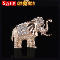 Animal Brooch Pins Silver Gold Plated Enamel Elephant Brooches for Women Man Accessories