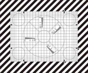 China SineImage NJ-10-100A Reflective/Transparent Grid Test Chart  for operational adjustment and control of TV cameras on sale