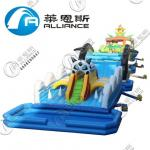 Amusement Park Giant Inflatable Games Inflatable Obstacle Course 3 Years Warranty