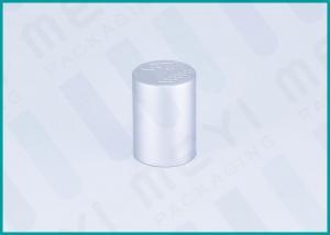 China Matt Silver Cosmetic Bottle Caps / Spray Bottle Cap For Glass Perfume Bottles on sale