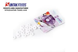 China Purple Dot Grape Flavor Sour Sweets Candy With Zip - Lock Bag on sale