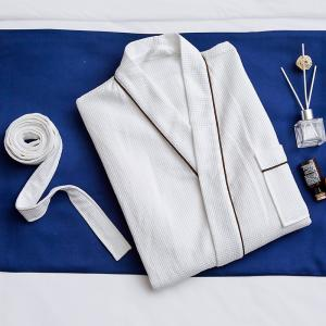 China White Waffle Hotel Spa Robes For Salon Compressed Optional Size Customized Color on sale