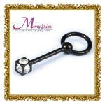 Forme el cuerpo negro brillante de los anillos del oído/del vientre joyería piercing para las mujeres con el ojeteador BJ31