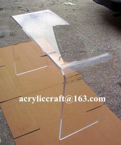 China Long Narrow Living Room Furniture Acrylic Plexiglass Console Table on sale