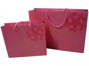 China T-Shirt Recyclable Kraft Paper Carrier Gift Bags Glossy / Matt Lamination on sale