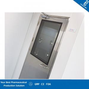 China Portable Air Shower Room Automatic Interlock CE Certificated Double Air Flow Air Shower on sale