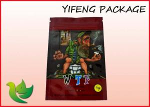 China Stand Up Aluminium Foil Lined Bag Heat Sealed For Herbal Incense Packaging on sale