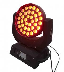 China 18w Rgbwa Uv Led Moving Head Spot Light With Zoom , Dj Stage Lights on sale