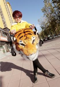 China 2014 Year New Design( Tiger Head ) Backpack bag on sale